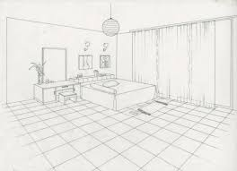 Guest Two Point Perspective Bedroom 98 And Benches With