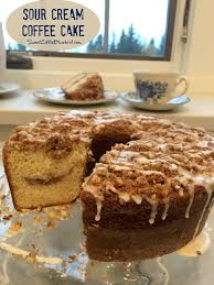 Photos of pecan sour cream coffee cake. Sour Cream Coffee Cake Sweet Little Bluebird