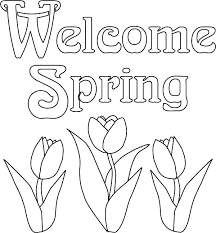 Free Printable Spring Flowers Coloring Pages Free Printable Spring