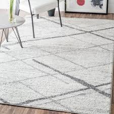mercury row azha broken lattice white and grey area rug best area rugs target