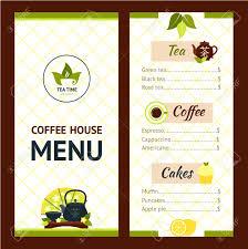 Menu Design Template Tea Cafe Menu Design Template With Drinks And Snacks Vector 16