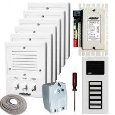 alpha communications™ ik543 7s 7 unit apt intercom kit wire 5 wire intercom at Is543 Alpha Wiring Diagram