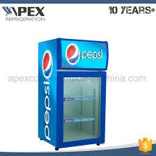 beverage cooler countertop mini fridge with glass door