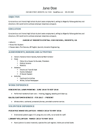 Student Resumes Template High School Resume Template Eghlim Co