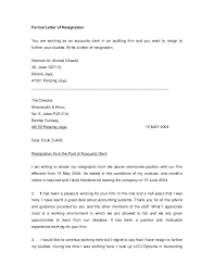 Bistrun : Letter Resignation Example Formal Resignation Letters ...