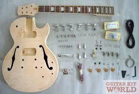 guitar kits for building electric bass guitars guitar kit world lp hollow body guitar kit