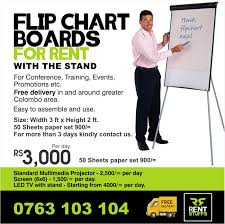 Flip Chart Board With Stand Price Deranamedia Flip Chart Board For Rent