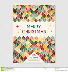christmas poster geometric template stock vector image  christmas poster geometric template