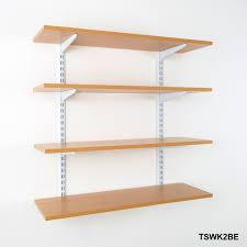 twin slot wall mounted shelving kits