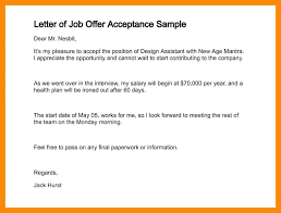 Accepted Offer Letter Sample Job Acceptance Reply Pra