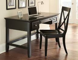 home office writing desk. Decorate Open Home Office Space With Dark Chair And Small Black Writing Desk On Hardwood Flooring