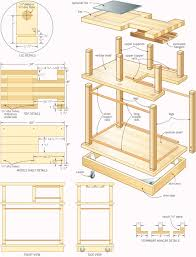 Wood Bar Cart Plans