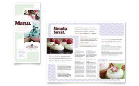 Bakery Cupcake Shop Menu Template Design