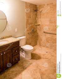 Handicap Tile Shower Designs Tile Bathroom With Handicapped Shower Stock Photo Image Of