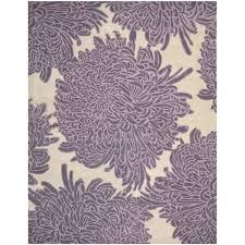 by chrysanthemum eggplant purple wool area rug rugs