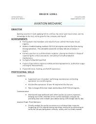 Aircraft Mechanic Resume Sample Aircraft Mechanic Resume Job ...