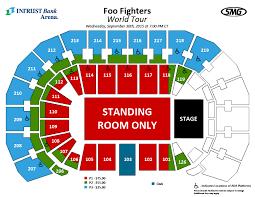 Wichita Ga Seating Foo Fighters Postboard