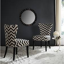 safavieh en vogue dining pic chevron black white ring dining chairs set of 2