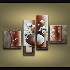 pieces contemporary wall art floral painting tulip contemporary decor