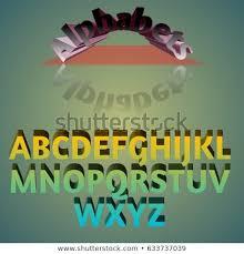 Alphabet Concept 3 D Colourful Alphabets Fancy Stock Illustration