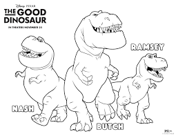 Small Picture The Good Dinosaur Coloring Page Free The Good Dinosaur Coloring