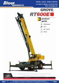 Grove Rt 600e Rough Terrain Crane Manualzz Com