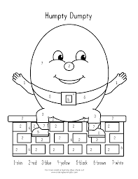 Humpty Dumpty Coloring Page - Coloring Pages For Kids And For ...
