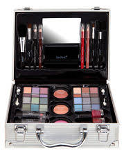 technic s cosmetic large travel vanity beauty make up case box gift set new