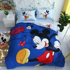 mickey mouse bedding set twin size bed covers cotton home textile kids bedroom decor full queen quilt