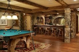 basement bar. Rustic Basement Bar Ideas Traditional With Exposed Beams Framed Artwork Pendant Lights