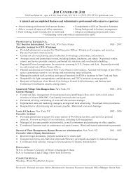 Fascinating Resume Career Summary Examples Administrative For