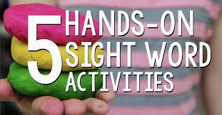 Activities Word 5 Hands On Sight Word Activities For Kindergarten