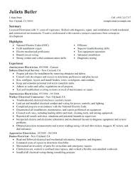 Electrician Resume Example Cool Apprentice Electrician Resume Elegant Resume Samples Electrician