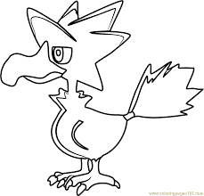 Small Picture Murkrow Pokemon Coloring Page Free Pokmon Coloring Pages