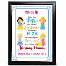 dels about personalised disney princess niece gifts birthday thank you presents