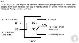 led brake light wiring diagram images led third brake light relay