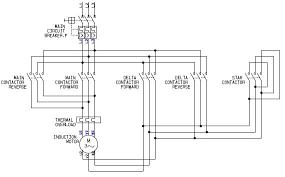 motor starter wiring control circuit wiring diagram 3 Phase Reversing Contactor Wiring Diagram motor starter wiring diagram start stop full vole non reversing 3 phase AC Contactor Wiring Diagram