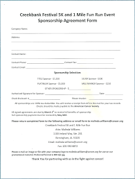 sponsorship agreement template sponsorship agreement form template