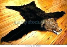 faux bearskin rug fake bear skin fur cost real white grizzly rugs