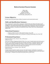 Certified Medical Assistant Resume Program Format