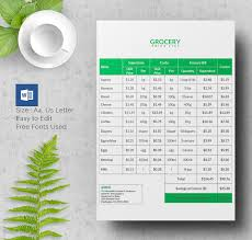 Product Price List Flyer Design Template Free Download Price Sheet