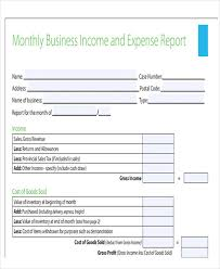 Monthly Business Expenses 28 Expense Report Templates Free Premium Templates