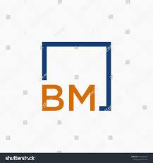 Bm Design Studio Letter Bm B M Logo Design Stock Vector Royalty Free 1501228472