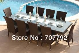 2018 rattan outdoor furniture dining collection dining table 10 seats chairsin outdoor tables from furniture