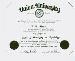 claude pepper s union university diploma for doctor of philosophy  claude pepper s union university diploma for doctor of philosophy in psychology