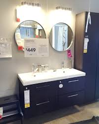 lighting for bathroom mirror. Round Bathroom Mirror With Storage By IKEA Furniture Using Lighting Ideas For