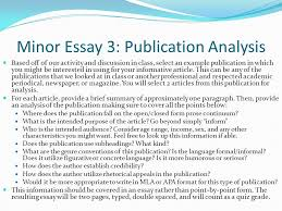 unit overview week intro to informative writing  minor essay 3 publication analysis based off of our activity and discussion in class
