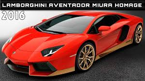 2016 Lamborghini Aventador Miura Homage Review Rendered Price ...