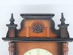 description linden wall clock 31 day windup linden day wood wall clock japan w key