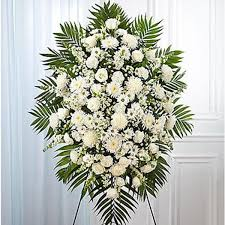 sympathy flowers flowers expo flower white funeral spray